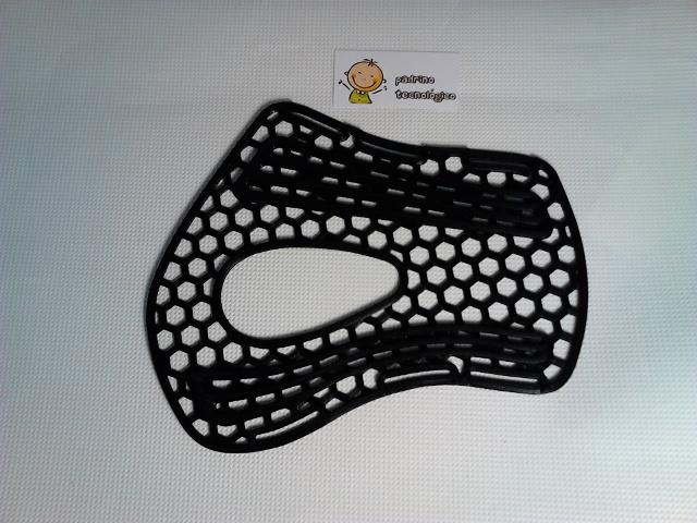 Férula impresa con impresora 3D en negro